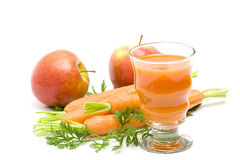 Glass of fresh juice Stock Images