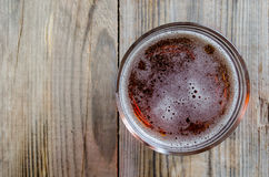 Glass of fresh lager beer Royalty Free Stock Photos