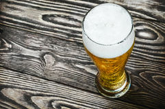 Glass of fresh lager beer Stock Photos