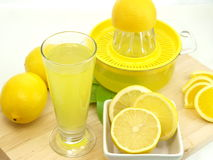 Glass of a fresh lemon juice Stock Photo