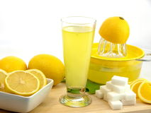 Glass of a fresh lemon juice Royalty Free Stock Photography