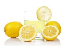 Glass of fresh lemon juice Royalty Free Stock Images