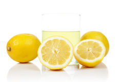 Glass of fresh lemon juice Stock Images