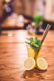 Glass of fresh lemonade. Royalty Free Stock Photography