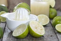 Glass with fresh made Lime Juice Stock Image