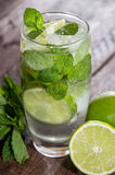 Glass with fresh made Mojito Stock Photos