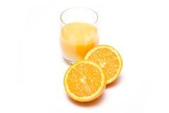 Glass or fresh orange Royalty Free Stock Photos