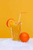Glass of fresh orange juice Stock Image