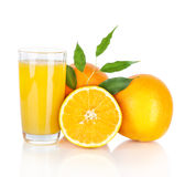 Glass of fresh orange juice Royalty Free Stock Image