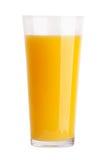 Glass of fresh orange juice. On white background Stock Photo