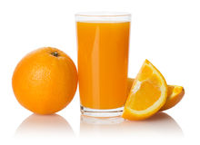A glass of fresh orange juice   Royalty Free Stock Images