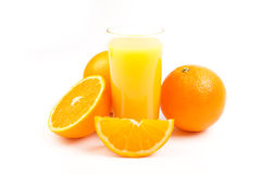 Glass of fresh orange juice Stock Photo