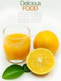 Glass of fresh orange juice Stock Image