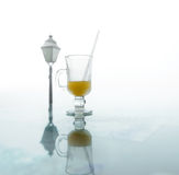 Glass of fresh orange juice Stock Images