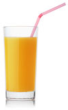 Glass of fresh orange juice Royalty Free Stock Images