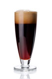 Glass of fresh red beer on white Stock Photography