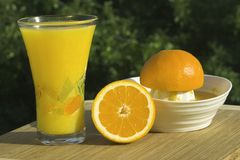 Glass Of Fresh Squeezed Organi Royalty Free Stock Photo