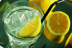 Glass of fresh water Stock Photos