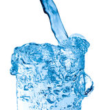 Glass of fresh water. With bubbles Stock Images