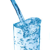 Glass of fresh water. With bubbles stock photos