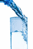 Glass of fresh water. With bubbles Royalty Free Stock Photography
