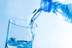 Glass of fresh water. With bubbles royalty free stock photo