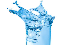 Glass of fresh water. With bubbles Stock Photography
