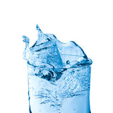 Glass of fresh water. With bubbles royalty free stock photos