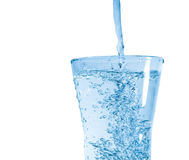 Glass of fresh water. With bubbles stock image
