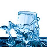 Glass of fresh water. With bubbles Stock Photo