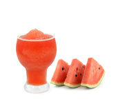 A glass of fresh watermelon juice Stock Images