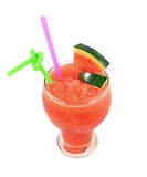Glass of fresh watermelon juice Stock Image