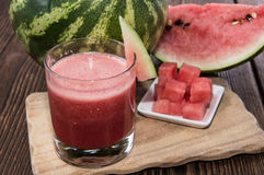 Glass with fresh Watermelon Juice Royalty Free Stock Photos