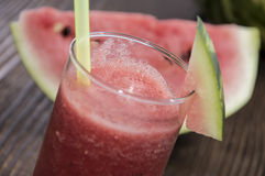 Glass with fresh Watermelon Juice Stock Photos
