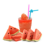 A glass of fresh watermelon juice Royalty Free Stock Photos