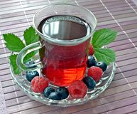 A glass of freshly brewed fruit tea Royalty Free Stock Image