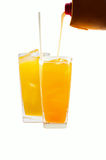 Glass of freshly orange juice Stock Image