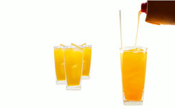 Glass of freshly orange juice Royalty Free Stock Photos