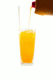 Glass of freshly orange juice Royalty Free Stock Photo
