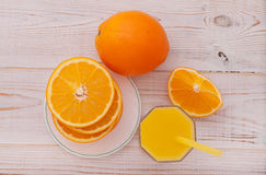 Glass of freshly pressed orange juice Stock Photography