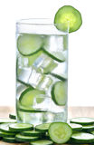 Glass of freshness water with cucumber Stock Photography