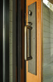Glass Front Door With metal Handle Royalty Free Stock Image