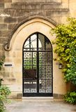 Glass front door to the house. Old glass front door to the house in the Mediterranean Malta, 2013 Stock Photos
