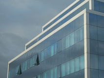 Glass front. Modern building with glass facade Royalty Free Stock Images
