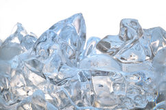 Glass with frozen ice cubes isolated Stock Photo