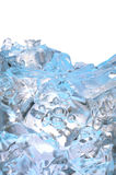 Glass with frozen ice cubes Stock Photography