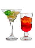 Glass fruit coctail Royalty Free Stock Image