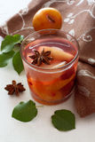 Glass of fruit compote Royalty Free Stock Images