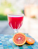 A glass of fruit juice Royalty Free Stock Photo