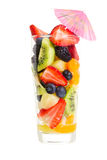 Glass of fruit salad Royalty Free Stock Photo